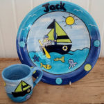 boat theme ceramics