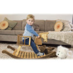 rocking horse with seat and boy