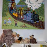train theme mural