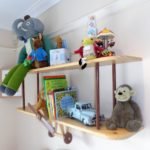 airplane shelf with doffie toys