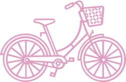 pink bike illustration