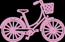 pink bike illustration