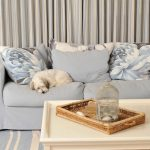 Dog sleeping on bespoke furniture set