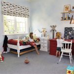 Interior kids bedroom and playroom